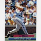 1992 Ultra Baseball #160 Sid Bream - Atlanta Braves