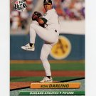 1992 Ultra Baseball #111 Ron Darling - Oakland A's