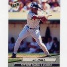 1992 Ultra Baseball #101 Mel Hall - New York Yankees