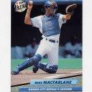 1992 Ultra Baseball #073 Mike Macfarlane - Kansas City Royals