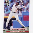 1992 Ultra Baseball #050 Reggie Jefferson - Cleveland Indians