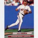1992 Ultra Baseball #049 Felix Fermin - Cleveland Indians