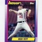 1990 Topps Baseball #689 Rich Yett - Cleveland Indians