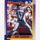1990 Topps Baseball #681 Mike Schooler - Seattle Mariners