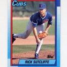 1990 Topps Baseball #640 Rick Sutcliffe - Chicago Cubs