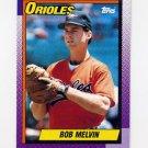 1990 Topps Baseball #626 Bob Melvin - Baltimore Orioles