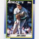 1990 Topps Baseball #623 Jim Corsi - Oakland A's