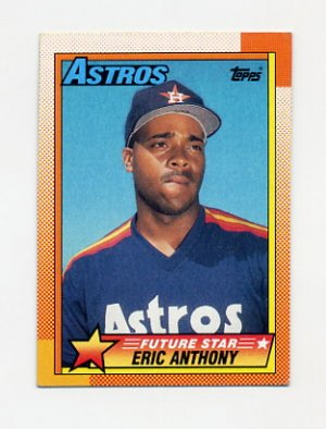 1990 Topps Baseball #608 Eric Anthony RC - Houston Astros