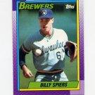 1990 Topps Baseball #538 Bill Spiers - Milwaukee Brewers