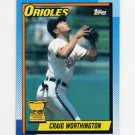 1990 Topps Baseball #521 Craig Worthington - Baltimore Orioles