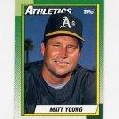 1990 Topps Baseball #501 Matt Young - Oakland A's