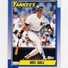 1990 Topps Baseball #436 Mel Hall - New York Yankees