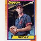 1990 Topps Baseball #433 Steve Olin RC - Cleveland Indians