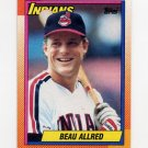1990 Topps Baseball #419 Beau Allred RC - Cleveland Indians