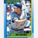 1990 Topps Baseball #417 Jim Gantner - Milwaukee Brewers