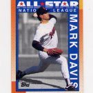 1990 Topps Baseball #407 Mark Davis AS - San Diego Padres