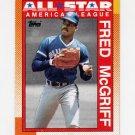 1990 Topps Baseball #385 Fred McGriff AS - Toronto Blue Jays