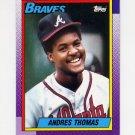 1990 Topps Baseball #358 Andres Thomas - Atlanta Braves
