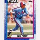 1990 Topps Baseball #341 Tom Foley - Montreal Expos