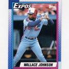 1990 Topps Baseball #318 Wallace Johnson - Montreal Expos