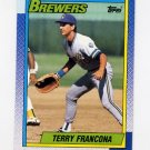 1990 Topps Baseball #214 Terry Francona - Milwaukee Brewers