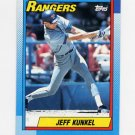 1990 Topps Baseball #174 Jeff Kunkel - Texas Rangers