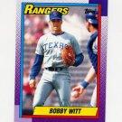 1990 Topps Baseball #166 Bobby Witt - Texas Rangers