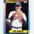 1990 Topps Baseball #163 Phil Bradley - Baltimore Orioles