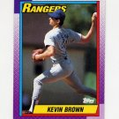 1990 Topps Baseball #136 Kevin Brown - Texas Rangers