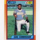 1990 Topps Baseball #134 Earl Cunningham RC - Chicago Cubs