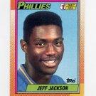 1990 Topps Baseball #074 Jeff Jackson RC - Philadelphia Phillies