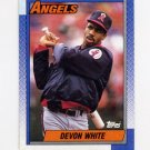 1990 Topps Baseball #065 Devon White - California Angels