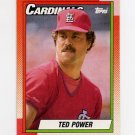 1990 Topps Baseball #059 Ted Power - St. Louis Cardinals