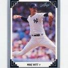 1991 Leaf Baseball #074 Mike Witt - New York Yankees