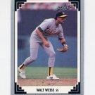 1991 Leaf Baseball #050 Walt Weiss - Oakland A's