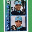 1995 Topps Baseball #649 Marc Valdes / Vic Darensbourg - Florida Marlins