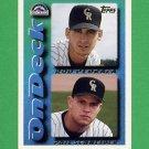 1995 Topps Baseball #648 Rod Pedraza / Phil Schneider - Colorado Rockies