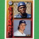 1995 Topps Baseball #644 Paul Spoljaric / Angel Martinez - Toronto Blue Jays