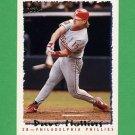 1995 Topps Baseball #586 Dave Hollins - Philadelphia Phillies