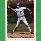 1995 Topps Baseball #460 Kurt Abbott - Florida Marlins