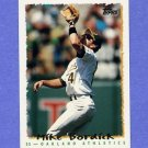 1995 Topps Baseball #281 Mike Bordick - Oakland A's