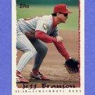 1995 Topps Baseball #198 Jeff Branson - Cincinnati Reds