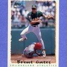 1995 Topps Baseball #129 Brent Gates - Oakland A's