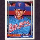 1992 Topps Baseball #789 Bobby Valentine MG - Texas Rangers