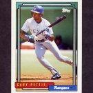 1992 Topps Baseball #756 Gary Pettis - Texas Rangers