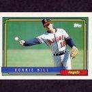 1992 Topps Baseball #731 Donnie Hill - California Angels