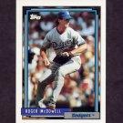 1992 Topps Baseball #713 Roger McDowell - Los Angeles Dodgers