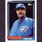 1992 Topps Baseball #699 Cito Gaston MG - Toronto Blue Jays