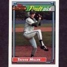 1992 Topps Baseball #684 Trever Miller RC - Detroit Tigers