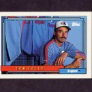 1992 Topps Baseball #666 Tom Foley - Montreal Expos